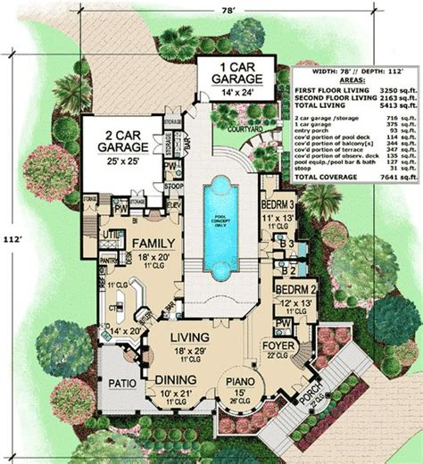 Central Courtyard House Plans by Courtyards Courtyard House And Courtyard House Plans On