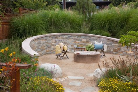 stone wall landscaping ideas landscape contemporary with