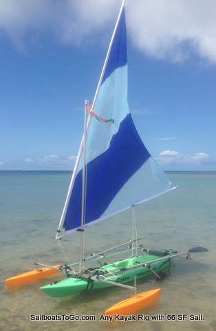 sailboats    kayak upwind sail kit