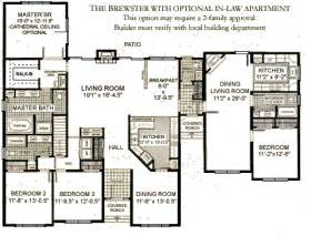House Plans With Inlaw Apartments by Ranches The Brewster Westchester Modular Homes Inc
