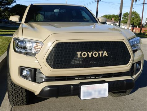 Toyota Tacoma Emblems Custom Mesh Grills For 2016 Toyota Tacomas By
