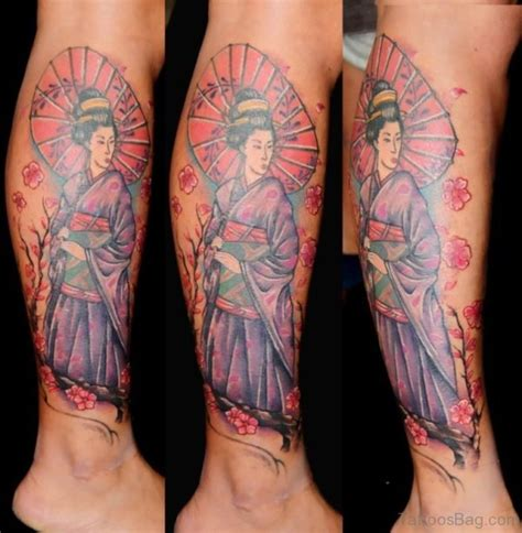 tattoo geisha leg 59 graceful geisha tattoos for leg