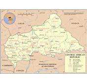 Detailed Political And Administrative Map Of Central African Republic