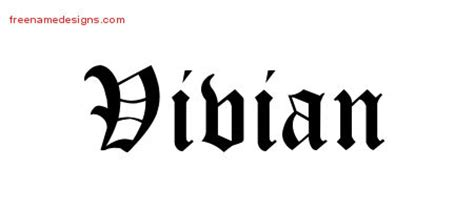 tattoo name vivian vivian archives free name designs