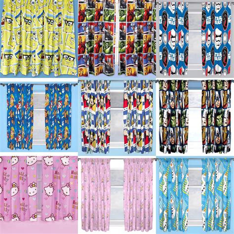 curtains characters new kids bedroom curtains boys girls disney character