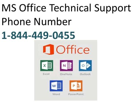 ms office technical support phone number 1 844 449 0455