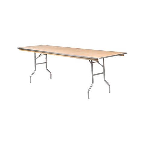 10 Foot Folding Table 10 Foot Folding Table Lot Of 10 8ft Folding Wooden Banquet Catering Tables Ebay 8 Foot