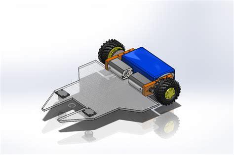 Robot Line Tracer Evolution 2015 tamiya line tracer robokit solidworks 3d cad model grabcad