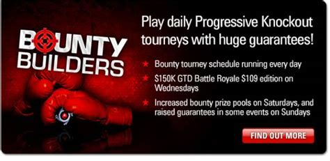 pokerstars bounty builders   handed progressive