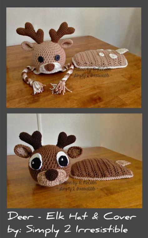 can you pattern elk deer elk hat and cape cover crochet pattern set elk