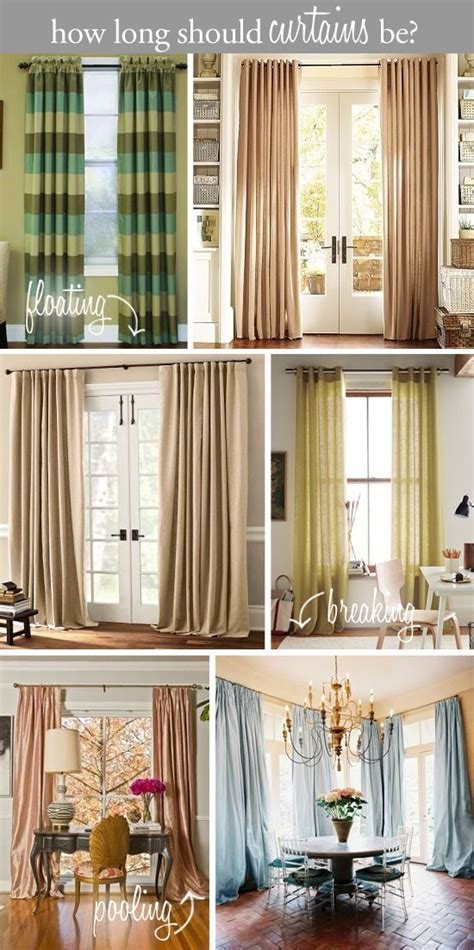 should curtains go to the floor design tip how long should curtains be floating above