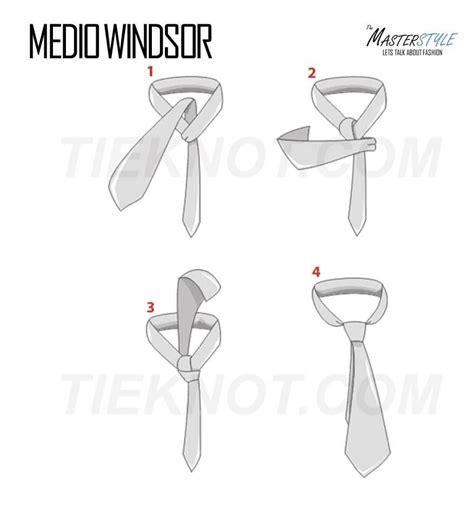 nudo medio windsor el nudo medio windsor se parece al nudo windsor pero a la