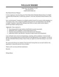 Revenue Specialist Cover Letter by Best Payroll Specialist Cover Letter Exles Livecareer