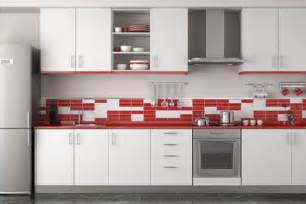 White And Red Kitchen Cabinets - red and white kitchen cabinets home interior inspiration