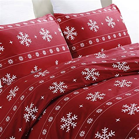 christmas pattern duvet cover vaulia lightweight microfiber duvet cover set snowflake