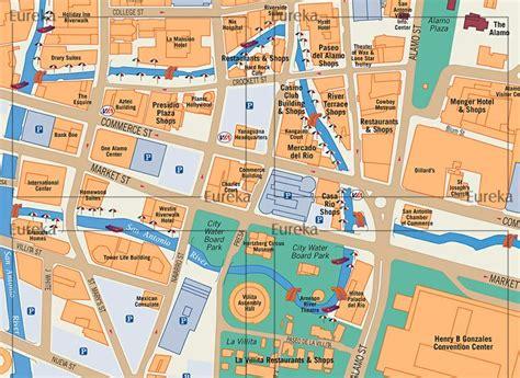 riverwalk map san antonio riverwalk visitor map 169 eureka cartography berkeley ca custom maps for print