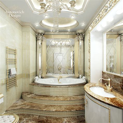royal bathroom luxury apartment interior antonovich design turkey