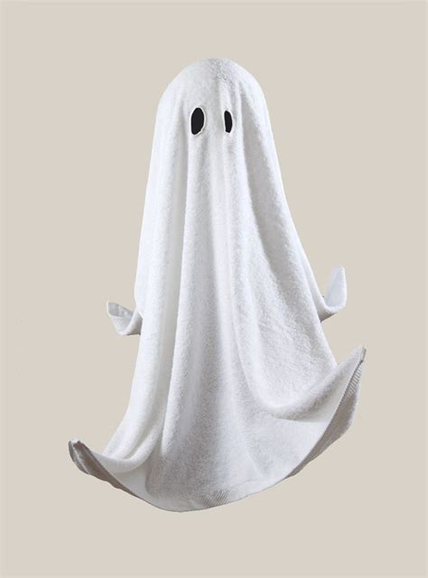 Ghost Towel 2 by 163 29 Cotton Ghost Towel White H H Eye