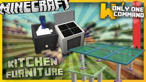 minecraft kitchen furniture minecraft kitchen furniture with only two command blocks