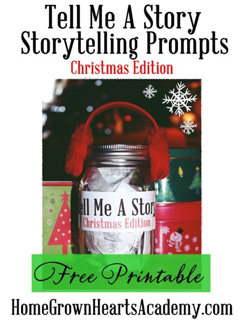 free printable christmas storytelling prompts money