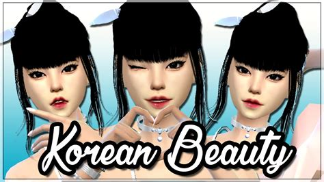 Korea Cc the sims 4 korean create a sim