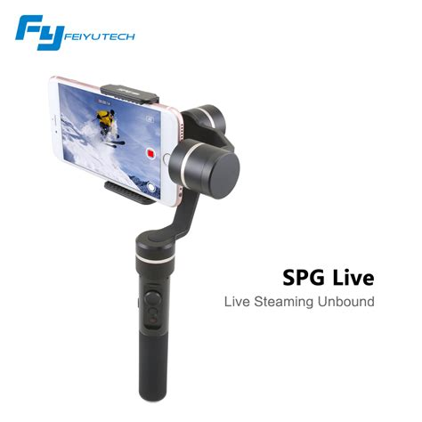 Feiyu Tech Spg Gimbal 3 Axis Stabilizer Handheld Iphone Black original feiyu tech fy spg live 3 axis handheld smartphone