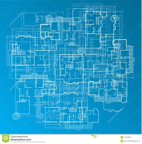 building blue prints building blueprint stock vector image of detailed