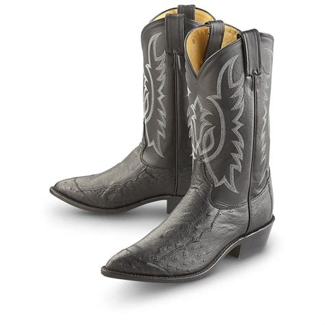 smooth ostrich boots s tony lama 174 smooth ostrich western boots black