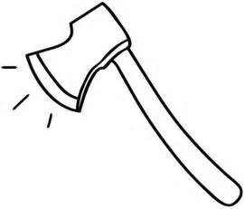 Hatchet Outline hatchet coloring pages clipart best
