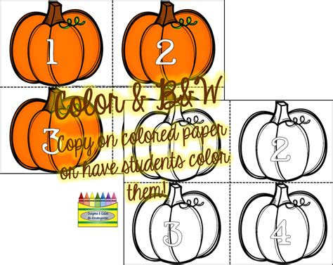 printable pumpkin number cards crayons cuties in kindergarten pumpkin math fun