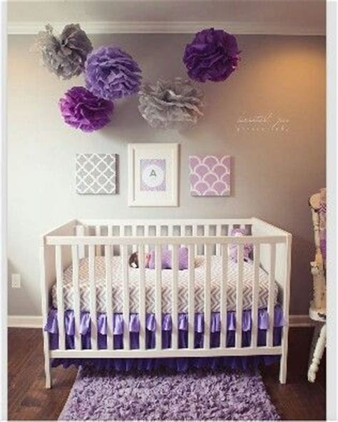 Purple Crib by Purple Nursery Welcome Home Ella