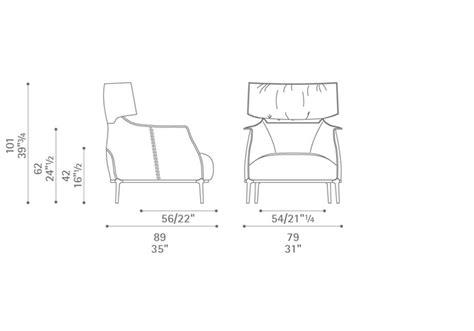 armchair measurements archibald king armchair from poltrona frau interior