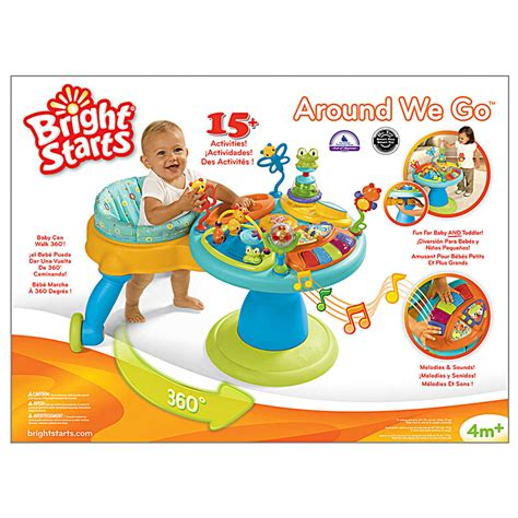 buy bright starts doodle bugs around we go activity station zippity zoo 3 in 1 around we go doodle bugs walker