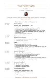 Sle Resume For Pastry Chef by Pastry Chef Resume Sles Visualcv Resume Sles Database