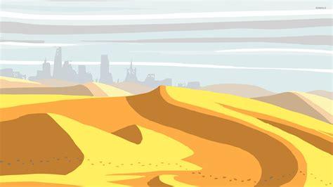wallpaper cartoon vetor footprints in the desert 2 wallpaper vector wallpapers