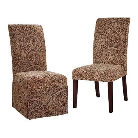 chenille paisley dining chair slipcovers for the home