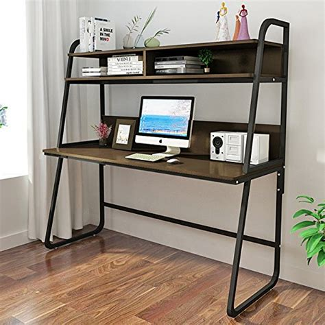 metal computer desk with hutch triblesigns computer desk with hutch modern metal frame