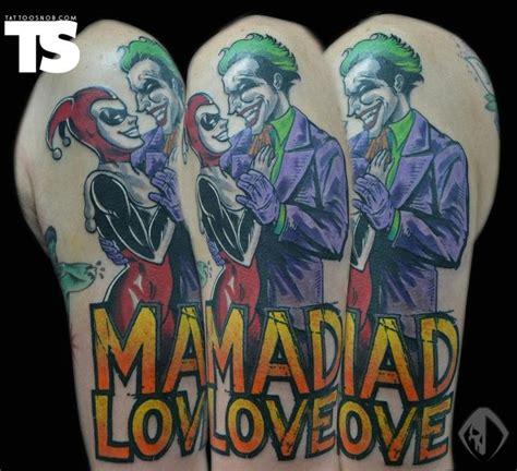 mad joker tattoo designs mad love joker tattoo awesome tattoos ink tattoos