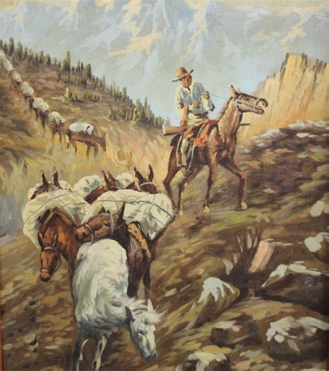 landscape and western art 0192842331 20th c western landscape with cowboy on horse