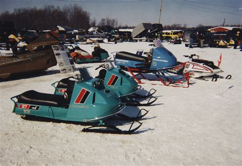 antique and vintage sleds on and the snowmobile
