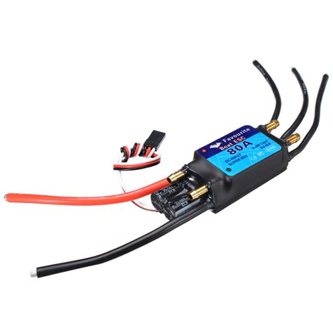rc boat motors waterproof fvt boat080 80a brushless senseless boat esc speed