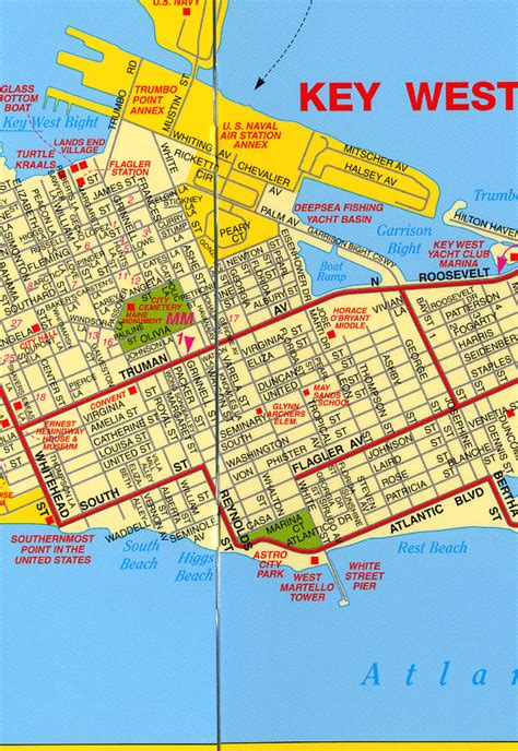 map of key west florida key west map slicker