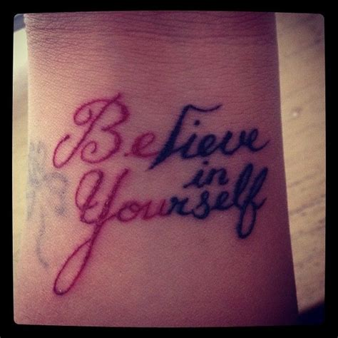 believe in yourself tattoo cool interesting titles about believing in yourself home