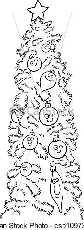 international christmas tree coloring page vector clipart of christmas tree for coloring book