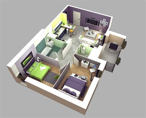 Studio Floor Plans 300 Sq Ft by 3d Cropped Floor Plan On Behance