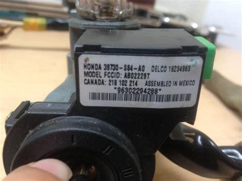 98 honda accord ignition switch buy honda accord 98 02 ignition switch immobilizer w key