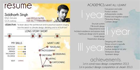 architectural internship resume design work folio