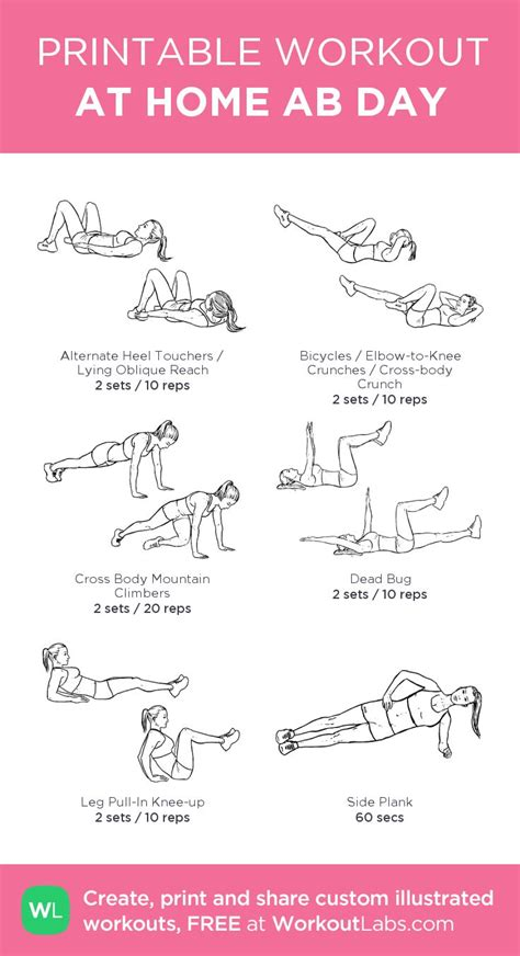 ab exercises at home workout routines for abs and legs