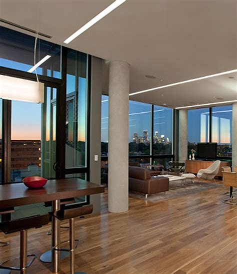 modern penthouses modern penthouse design overlooking the minneapolis lakes