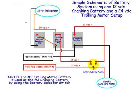 24 volt battery wiring diagram wiring diagram 24 volt wiring diagram for trolling motor